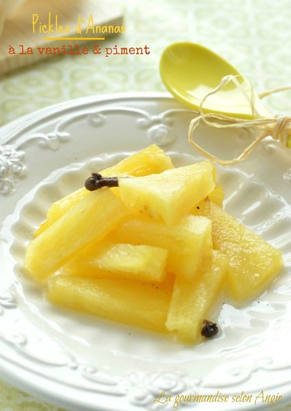 ananas pickles conserve épices vanille piment 1
