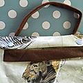Sac kelly hermès en toile enduite motifs animaux d'afrique