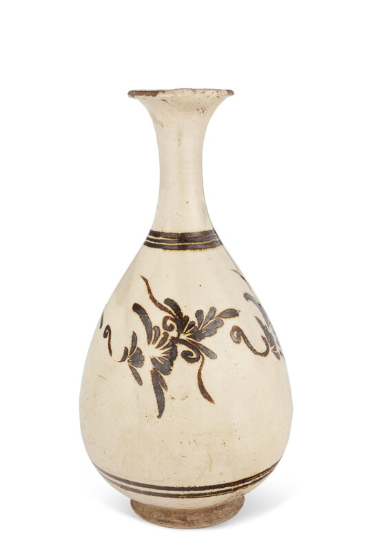 A Cizhou pear-shaped vase, Jin-Yuan dynasty (1115-1368)