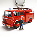 Berliet gak 20 h 2 fourgon pompe tonne. collection pompiers hachette. #93. 1/43.