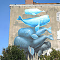 Bayonne, Festival Street art Points de vue 2019, fresque NEVERCREW