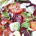 Carpaccio tomate-betterave