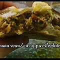 Naan veau/curry