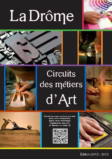 Guide Circuits des Métiers d'Art de la Drôme Couverture