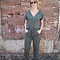 Combinaison pantalon - la rencontre entre salme pattern et aime comme marie