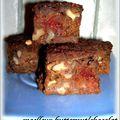 Moelleux au butternut/chocolat , noix et fraises déshydratées