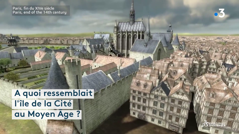 A quoi ressemblait l'île de la Cité au Moyen Âge