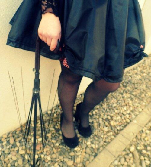 Jupe noire Parapluie 2 Mars 2016