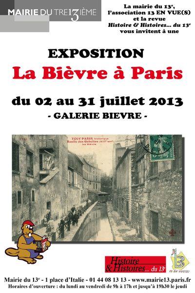 affiche 40X60 exposition Bievre mairie du 13e leger