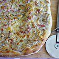 Pizza blanche aux cèpes et à la truffe noire {cuisson au barbecue}