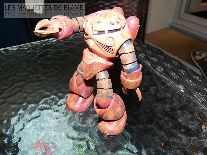 """MSM-07S Z'GOK CAMMANDER TYPE """"ABANDONED AND RUST CUSTOM"""" MONTAGE RAPIDE PHOTOS TERMINER!!!"""