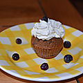 Cupcakes cappuccino myrtilles