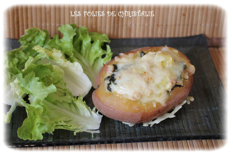 Pommes de terre farcies aux épinards 6