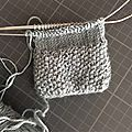 Chauffe épaule tricoté avec aiguilles circulaires