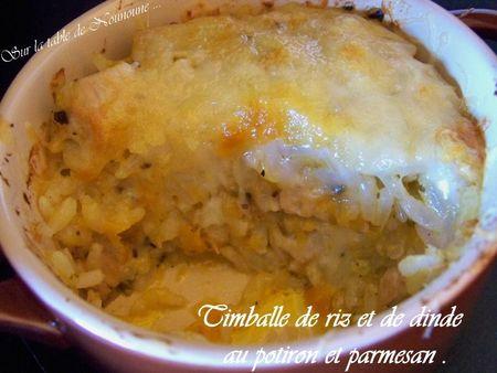Timballe de riz et de dinde au potiron et parmesan 2