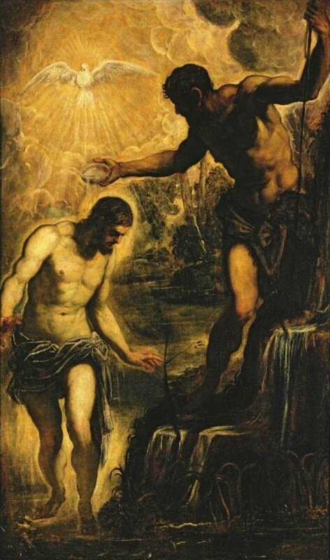 Jacopo Tintoretto, The Baptism of Christ, circa 1580