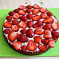 Amandier vegan aux fraises, sans gluten