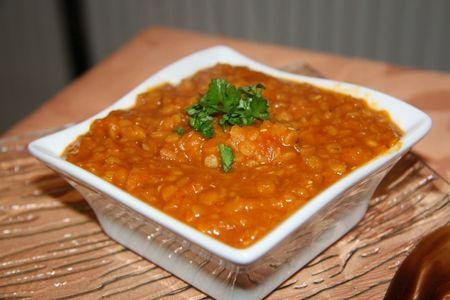 Curry de lentilles aux tomates