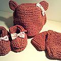 Bonnet chaussons moufles